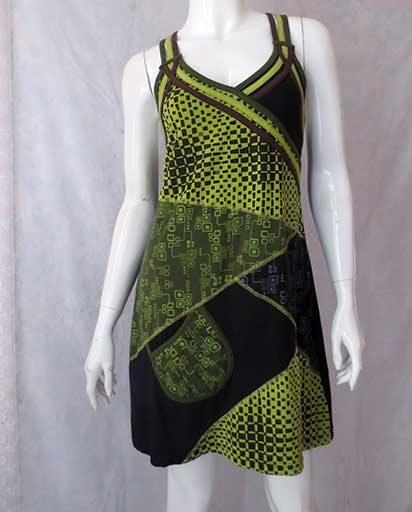 Cotton Strap Patch Dress
