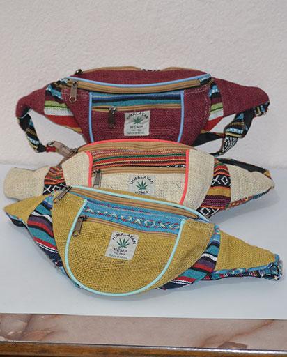Handmade Hemp Belt Bags