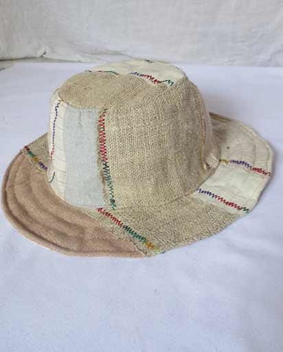 Hemp Cotton Patchwork Hats