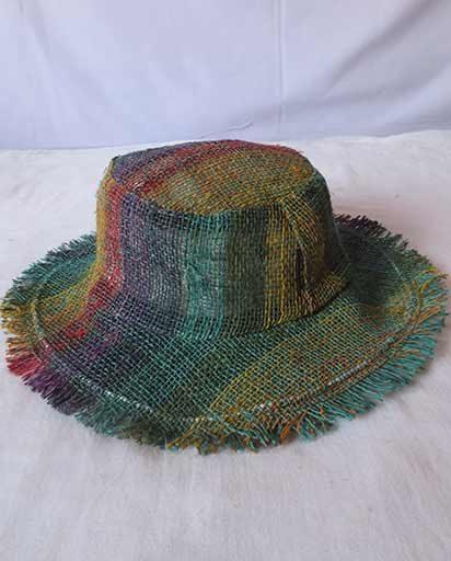 Handwoven Tie Dye Hemp Hats