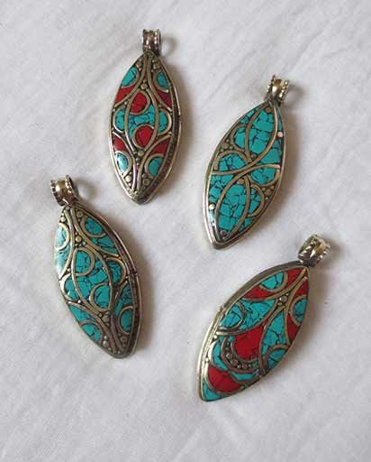 Nepal Handcarved Stone Pendents