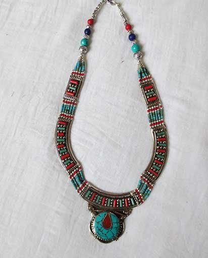 Nepalese Ethnic Handcarved Necklace