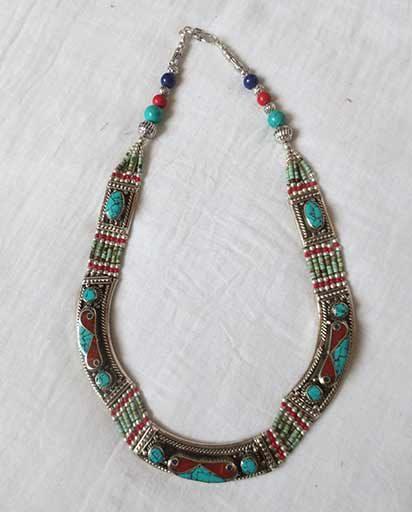 Entirely Handcarved Tibetan Necklace