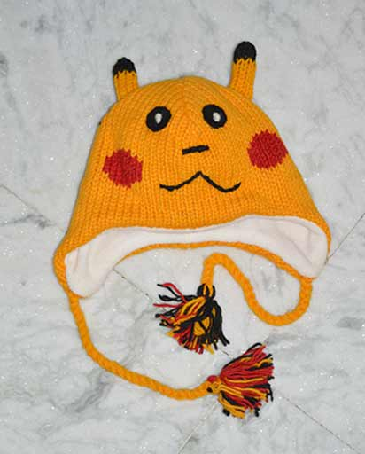 Woolen Childrens Pikachu Hats