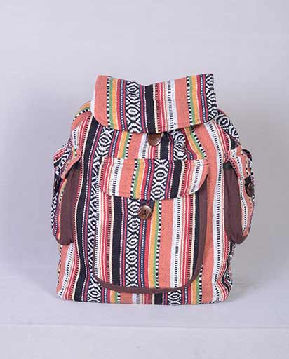 Three Pocket Cotton Rucksack