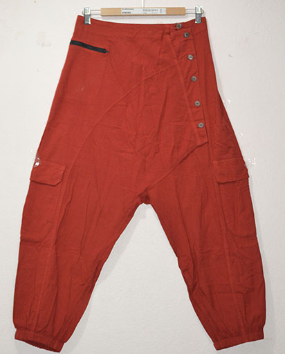 Enzyme Washed Cotton Trousers