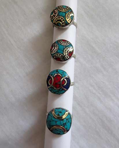 Handmade White Metal Rings