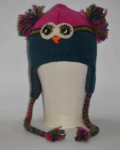 Child Owl Woolen Hats
