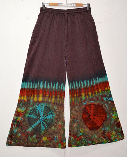 Tie Dyed Cotton Loose Trousers