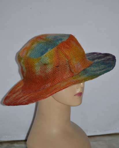 Recycled Jute Tie Dyed Hats