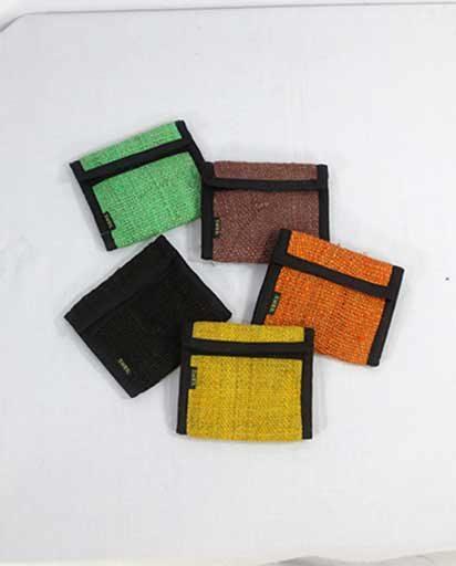 Colored Handmade Hemp Wallets