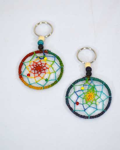 Hemp Cotton Dream Catcher Key Ring