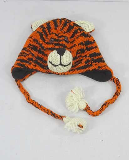 Childrens Woolen Ear Flap Caps