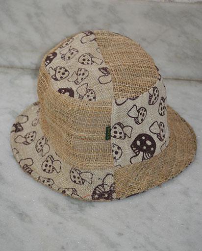 Mushroom Print Patch Hemp Hats