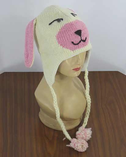 Fleece Lined Woolen Animal Hats