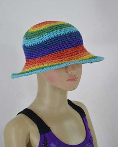 Childrens Rainbow Cotton Hats