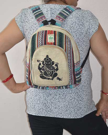 Ganesh Ladies Hemp Backpacks
