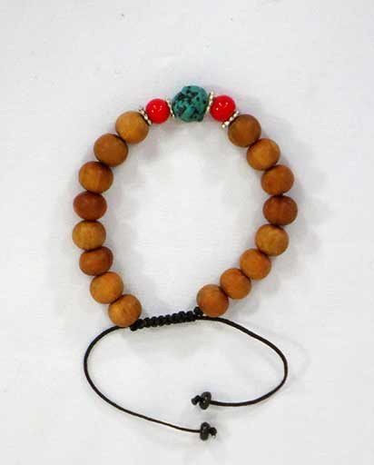 Adjustable Wooden Beads Bracelet