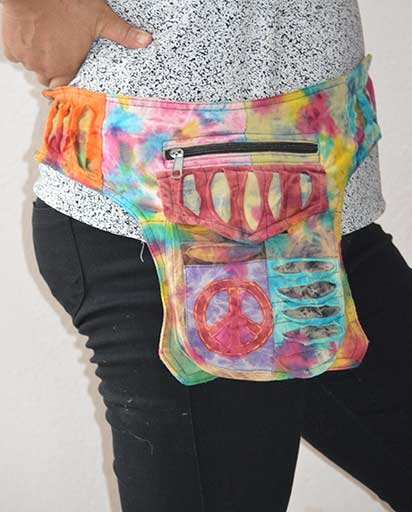 Tie Dyed Cotton Belt Bags