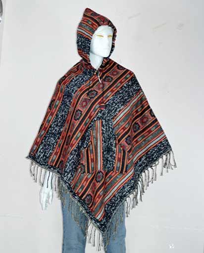 Warm Woolen Hood Ponchos