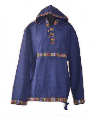Nepalese Handwoven Cotton Hoodies