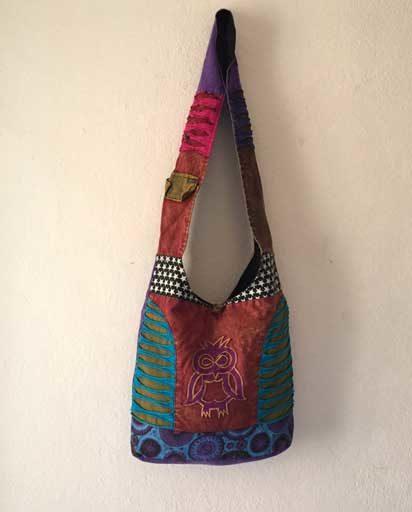 Applique Owl Cotton Bags