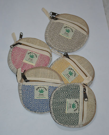 Round Hemp Cotton Purse
