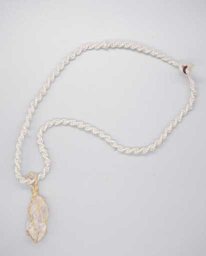 Natural Stone Linen Necklace