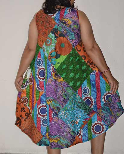 Fully Patchwork Cotton Dresses