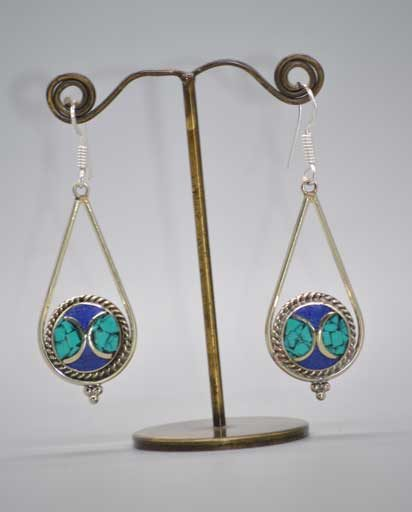 Himalayan Stone Inlaid Earrings