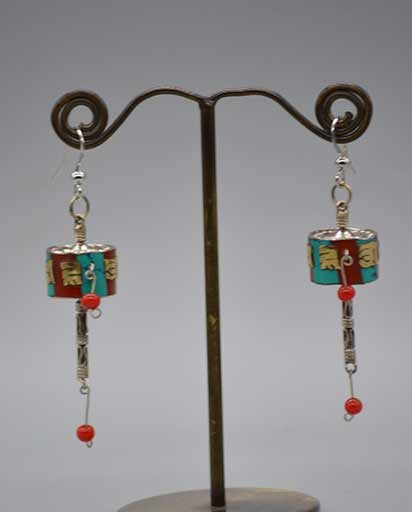 OM Mane Pane Hum Tibetan Earrings