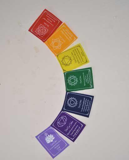 Seven Chakra Cotton Flag