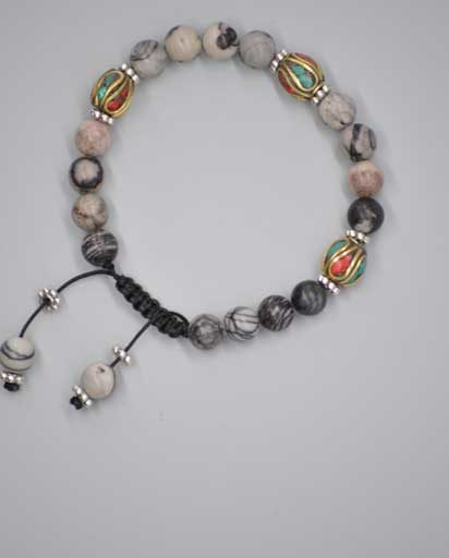 Stone With Metal Beads Bracelet