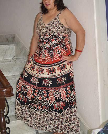 Long Strap Cotton Dresses