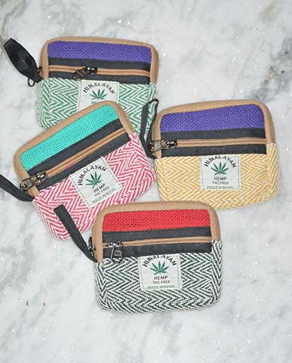 Hemp Cotton Credit Card Purse