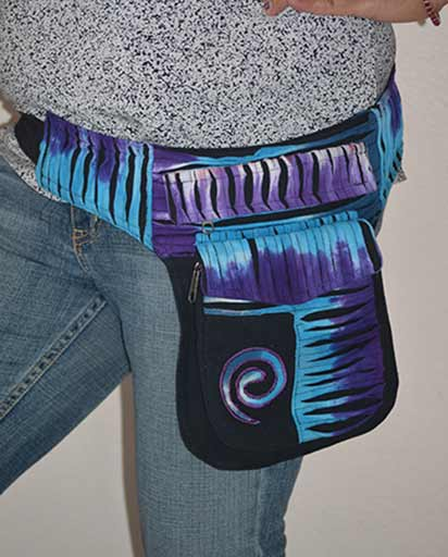 Tie Dyed Razor Cotton Belt Bags