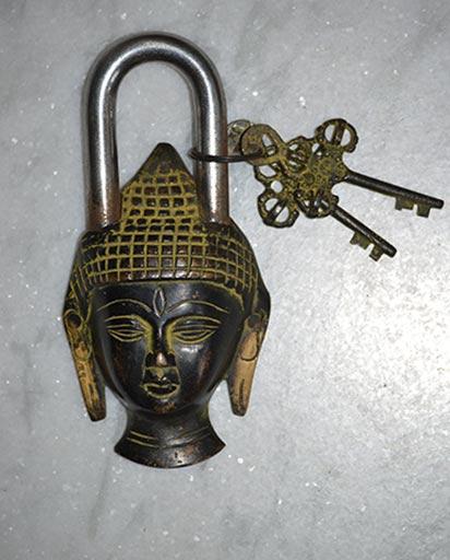 Vintage Buddha Door Lock