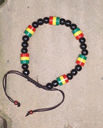 Rasta Nepalese Bead Bracelet