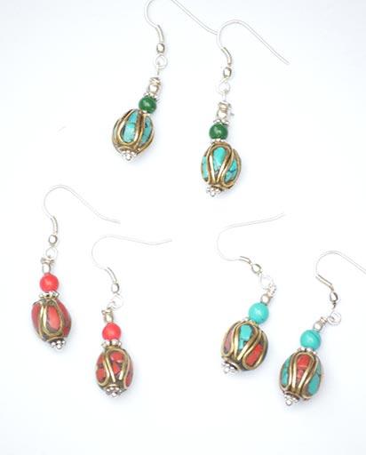 Small Delicate Nepalese Earrings
