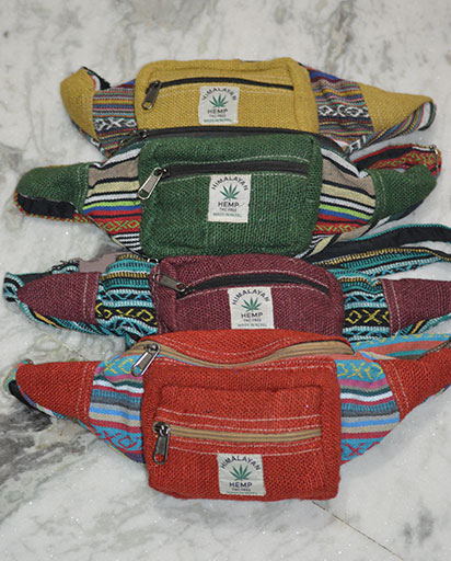 Nepalese Hemp Belt Bags
