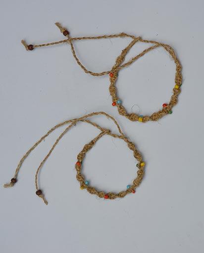 Multi Color Bead Hemp Bracelet
