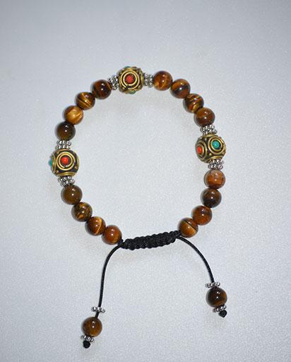 Adjustable Tiger Eye Stone Bracelet