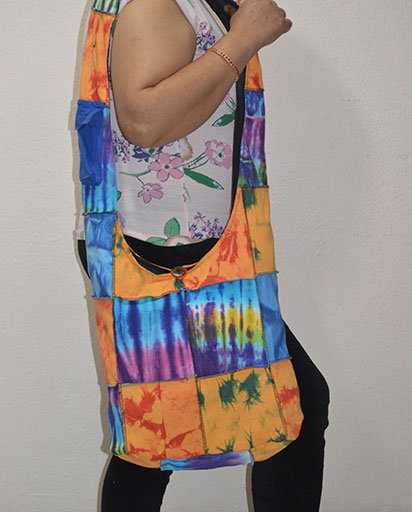 Tie Dyed Patchwork Cotton Bags