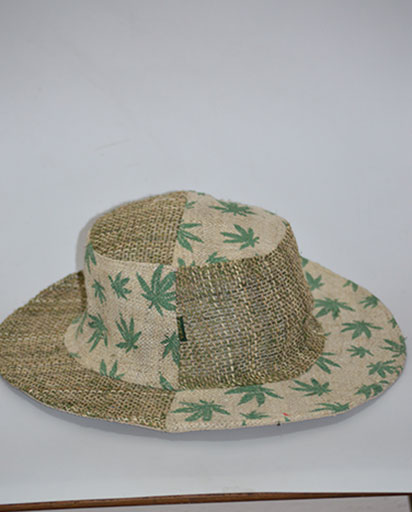 Handmade Hemp Leaf Hats