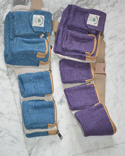 Multiple Pockets Hemp Belt Bags